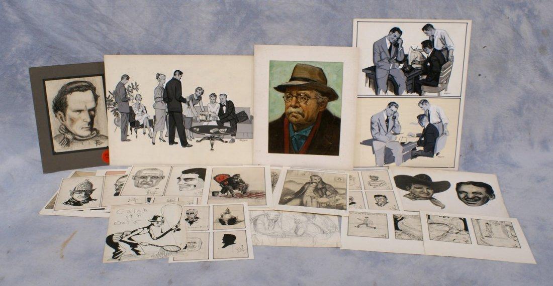 Richard Baldwin, American, PA, b 1920, (51) unframed dr