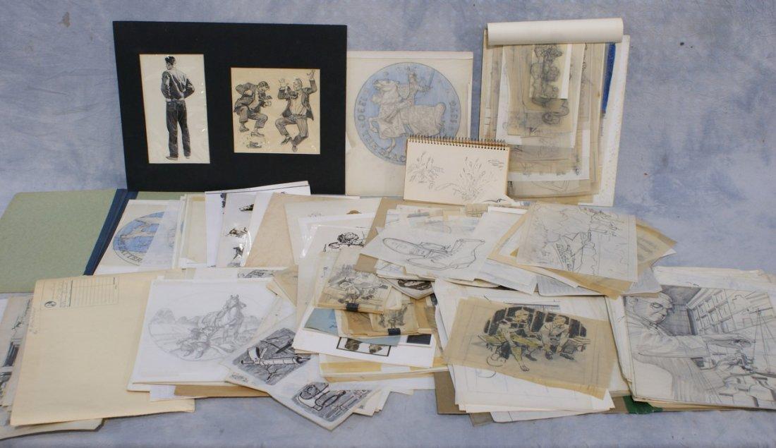 Richard Baldwin, American, PA, b 1920, large collection
