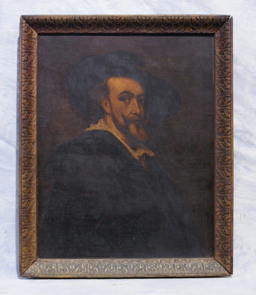 European School, 19th/20th c, oil on wood panel, portra