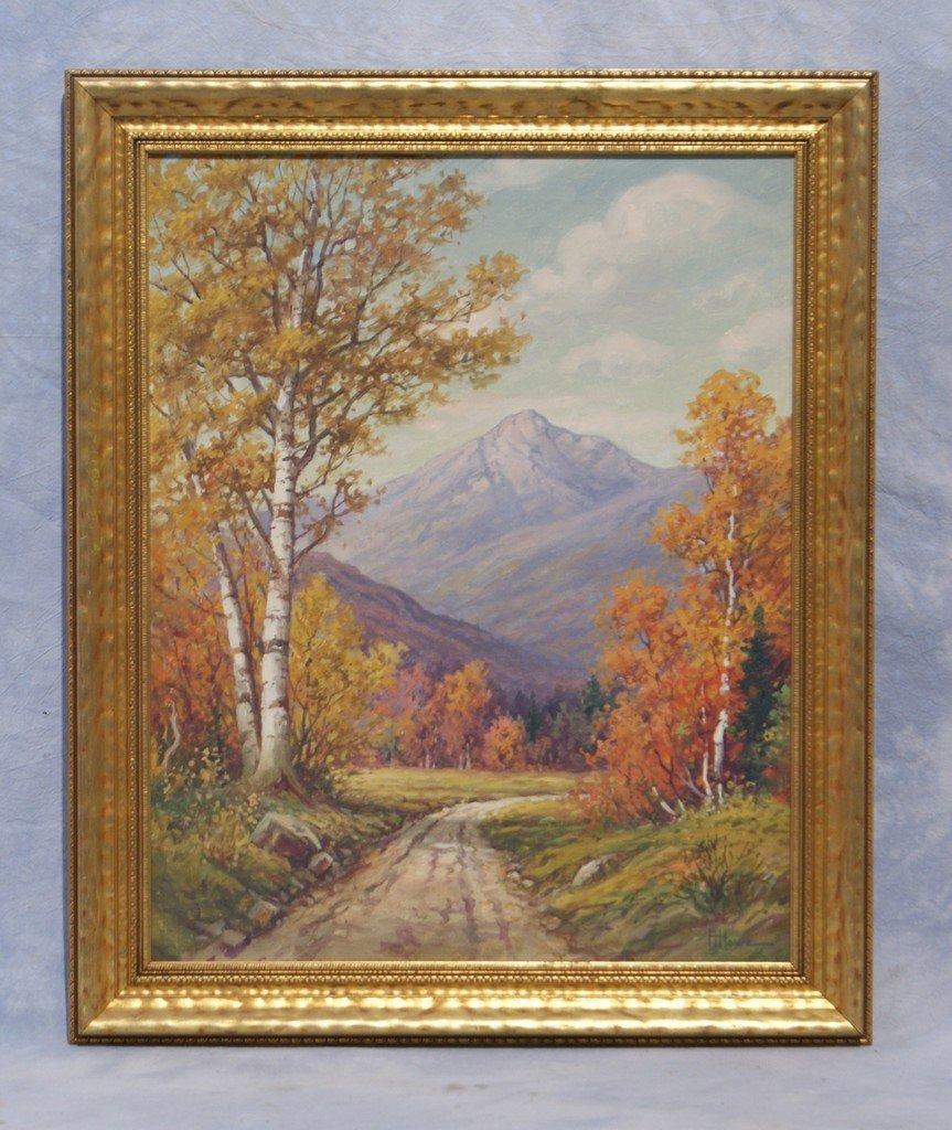 Harry H Howe, American, Maine, 1886-1966, o/c, Mountain