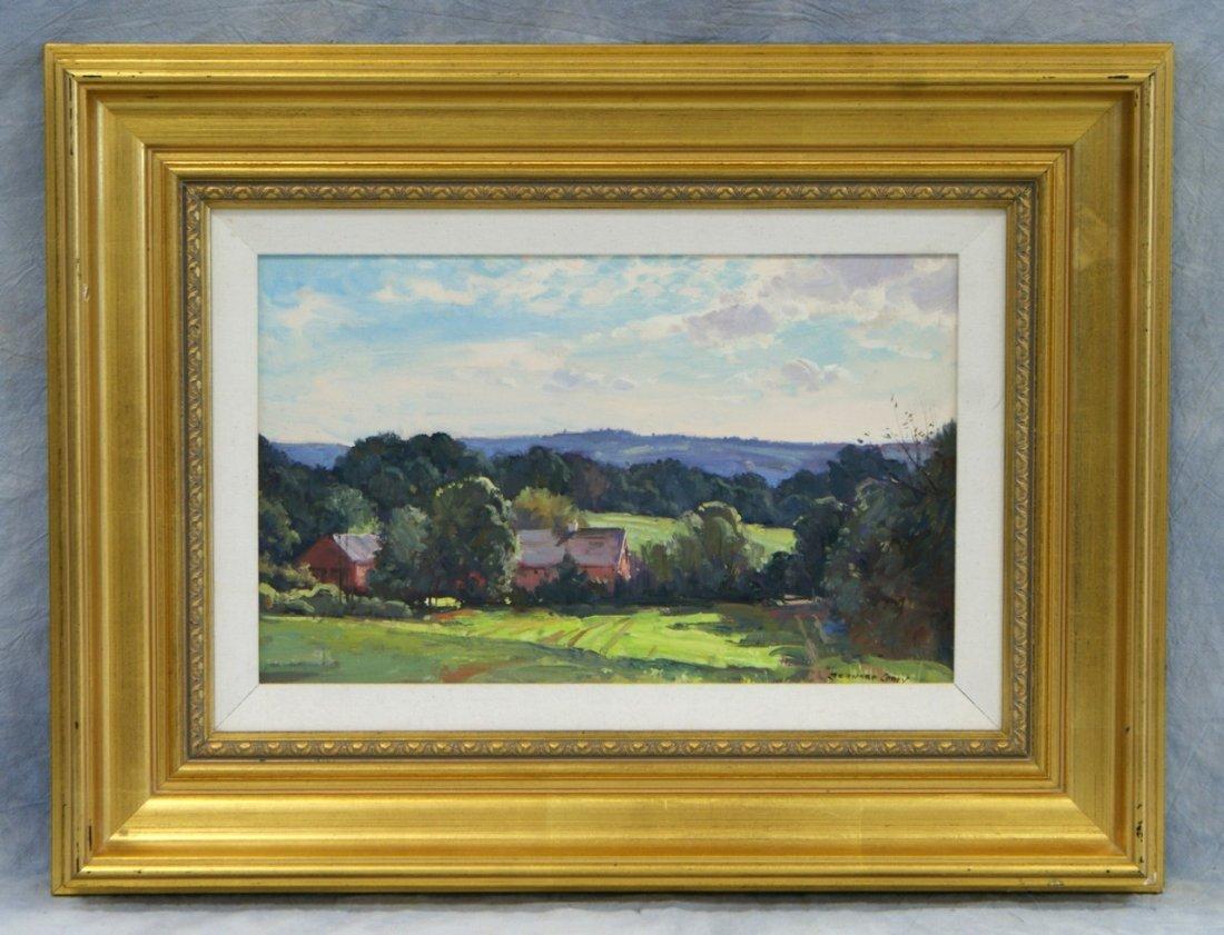 Bernard Corey, American, 1914-2000, Farm in Landscape,