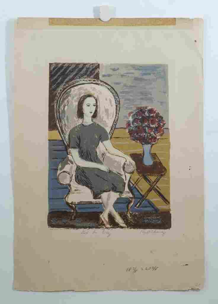 (2) Ruth Chaney, American, 20th c, color siokscreen, Gi