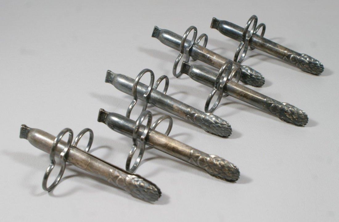 (6) Christophle silver plated individual asparagus tong