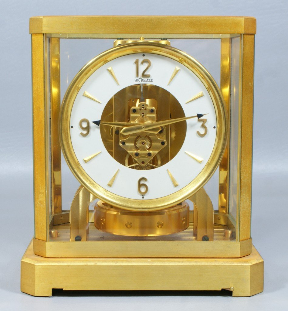 Jaeger LeCoultre Atmos clock, in original box and carry