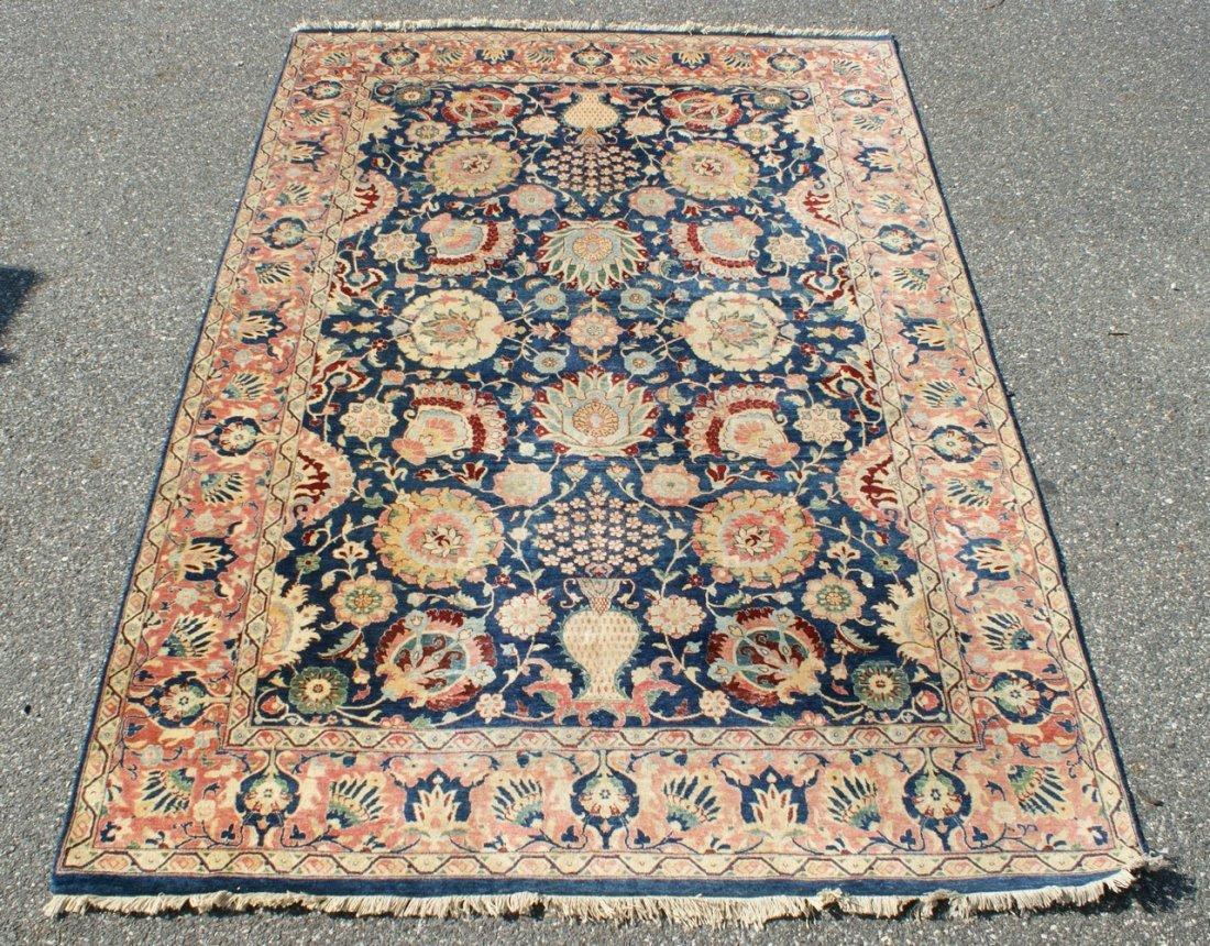 "6'1"" x 8'9"" semi-antique Persian carpet, some wear"