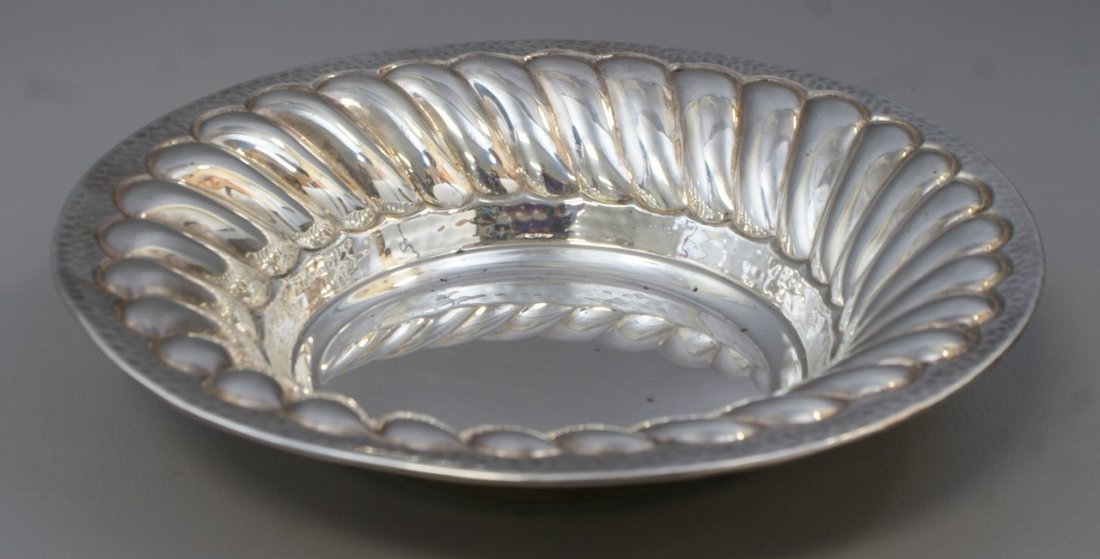 """Round sterling silver bowl stamped 925, 12"""" d, 13.62 TO"""