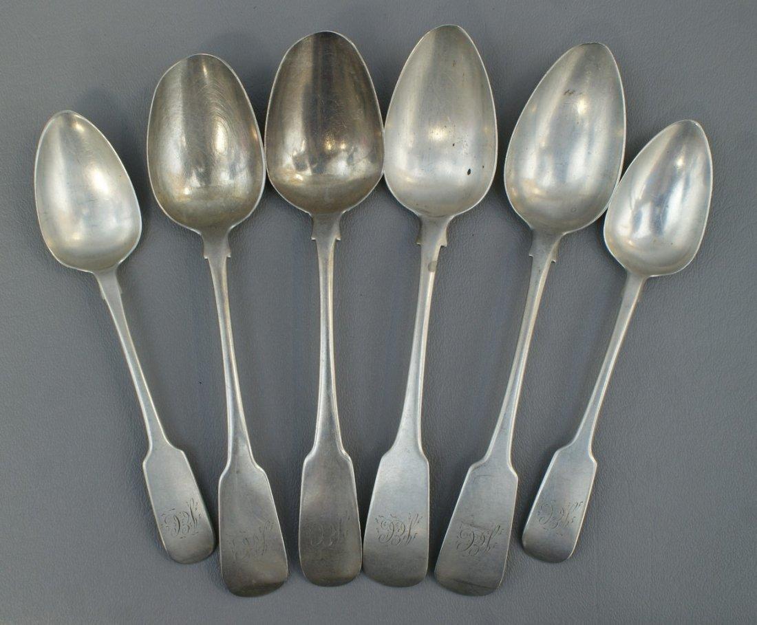 (4) Irish Georgian silver tablespoons, Dublin, 1814, ma