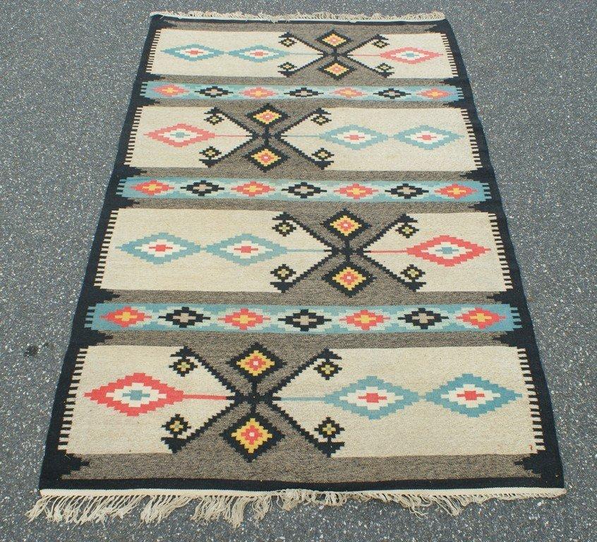 """5' x 8'1"""" Native American rug"""
