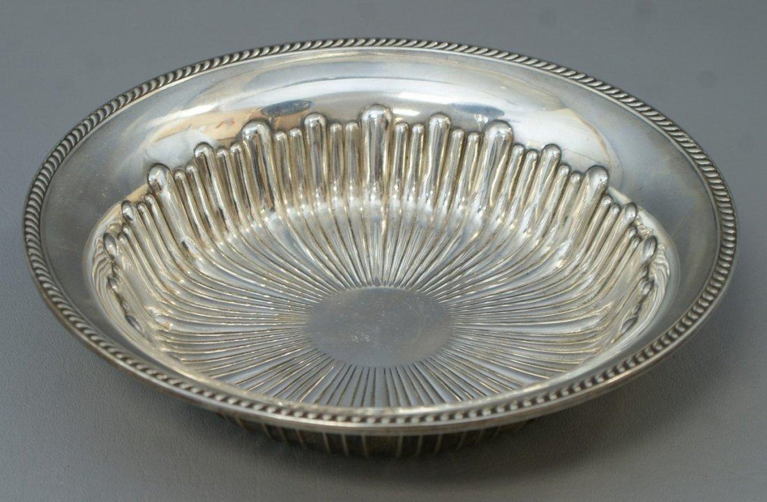 "Watson sterling silver ribbed round bowl, no mono, 9"""