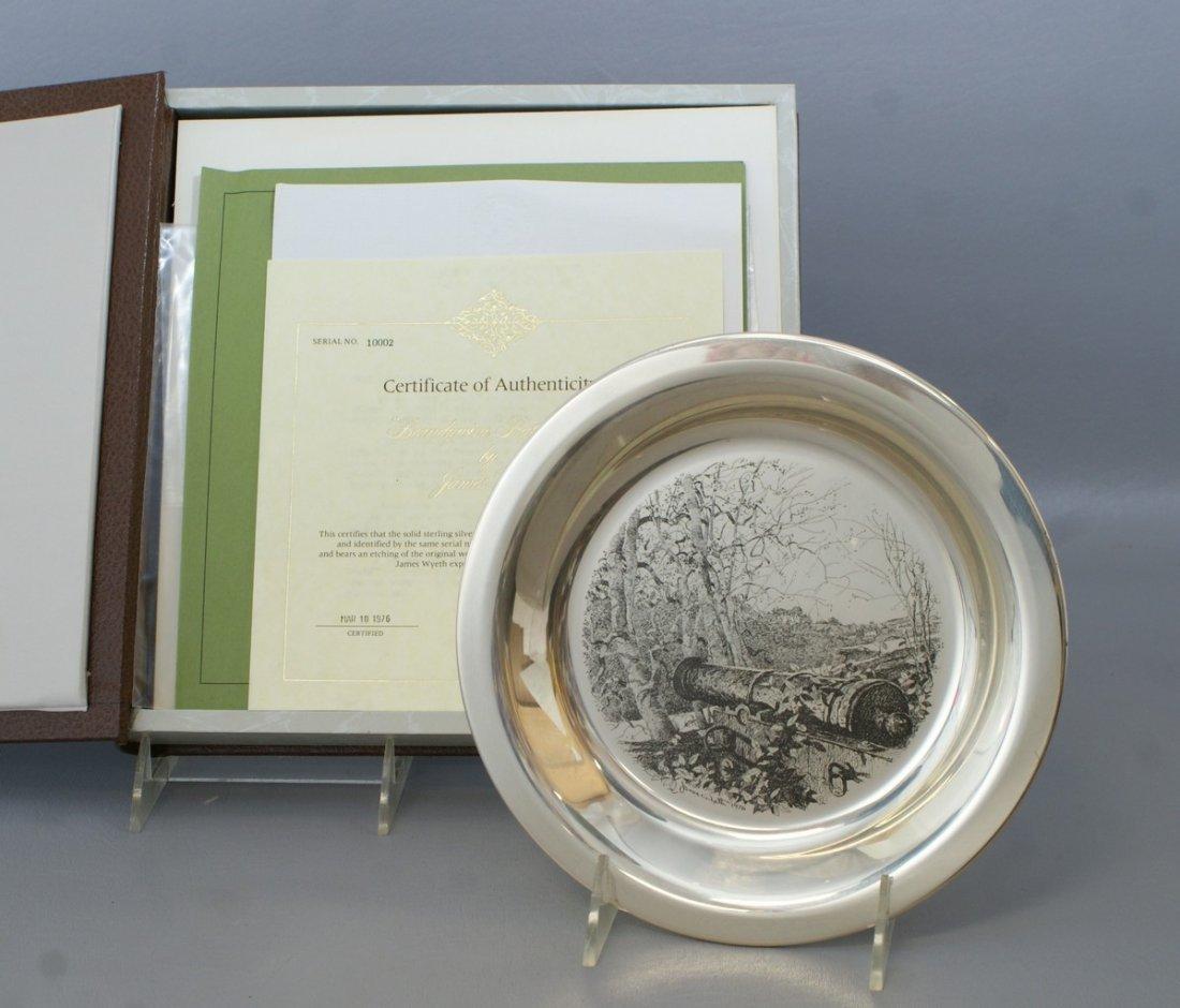 Jamie Wyeth sterling silver plate, Brandywine