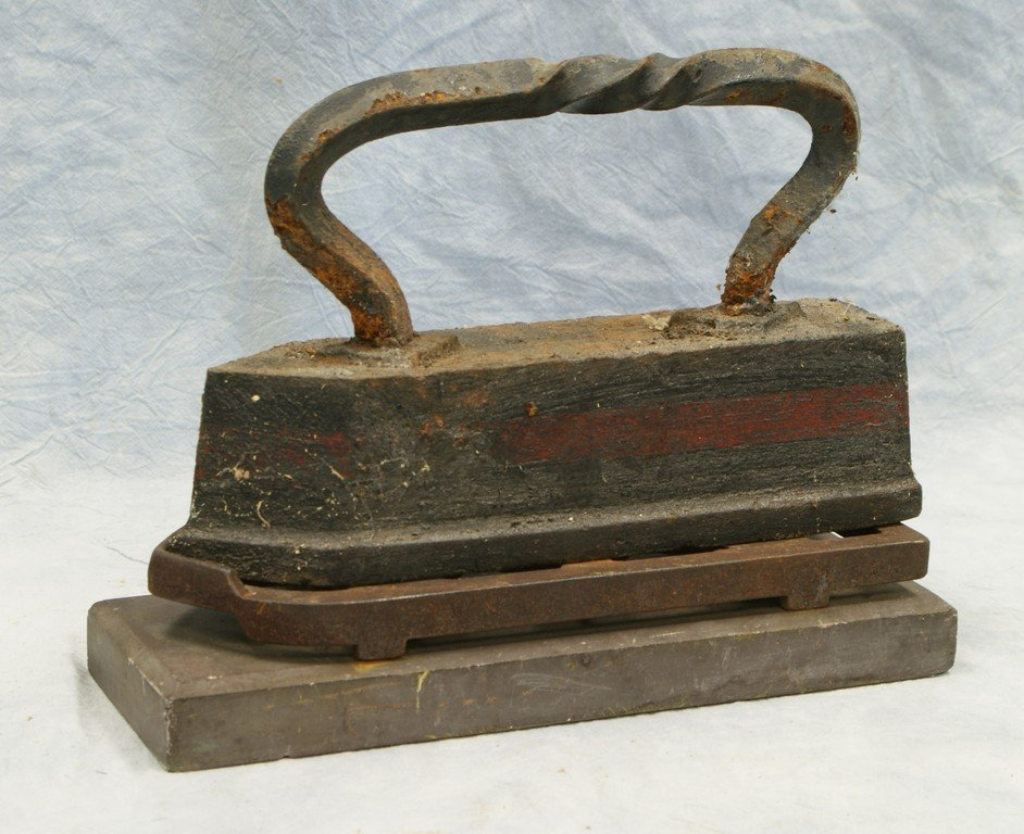 Tailors Iron with trivet