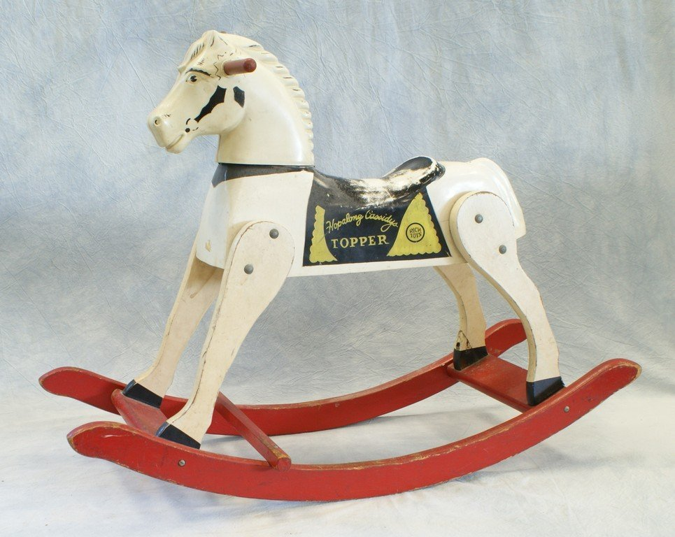 Toys For The Wealthy : Hopalong cassidy topper rocking horse by rich toys
