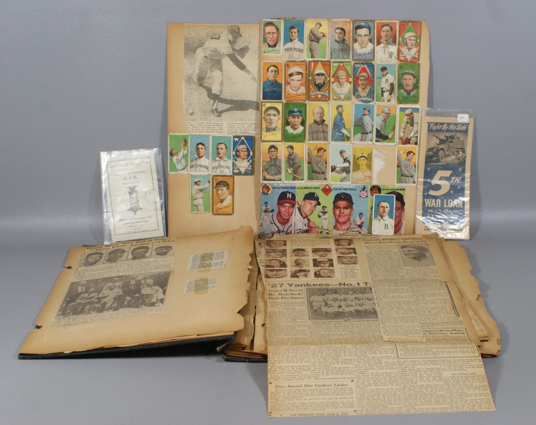 (34) Circa 1911 tobacco baseball cards, including T205