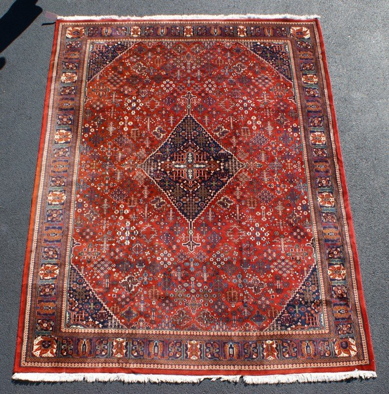 "Red Indo-Bidjar Carpet, 9"" x 11'10"""