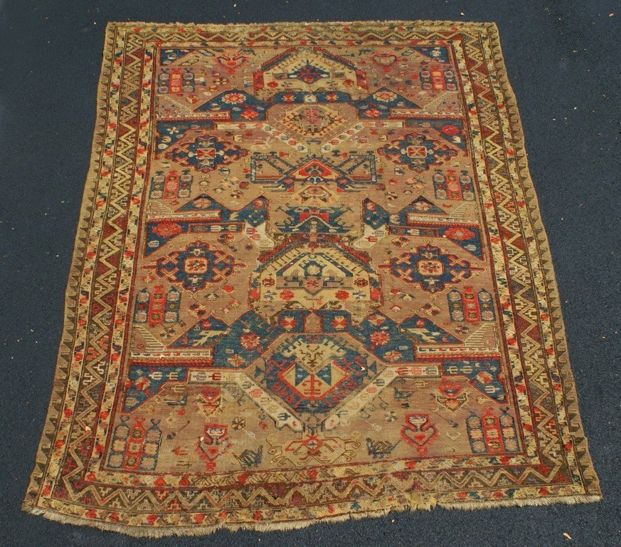 "Antique Turkish Tribal Carpet, 7'7"" x 9'9"""