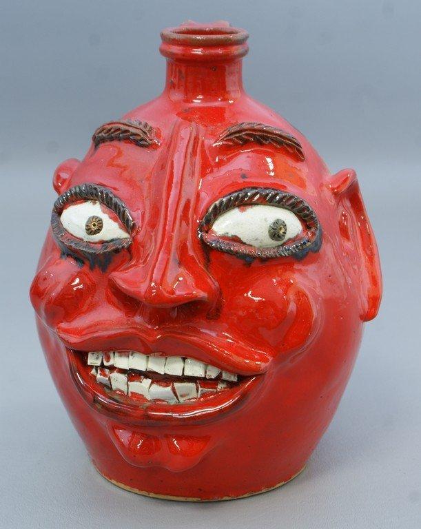 "Billy Ray Hussey North Carolina pottery ""Red Devil"""