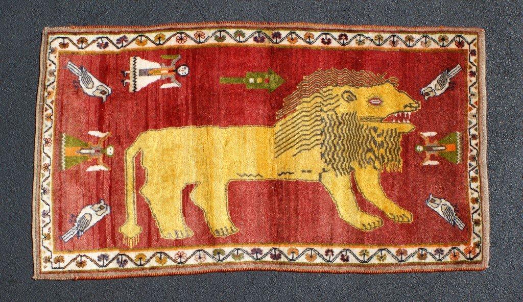 """3'7"""" x 6'4"""" lion rug"""