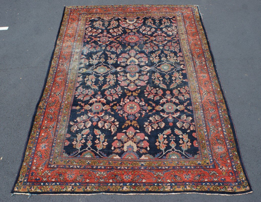 """Persian Carpet, 9' x 11""""4"""", some areas of wear"""