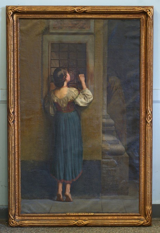Tony Robert Fleury, French, 1837-1912, o/c, Woman