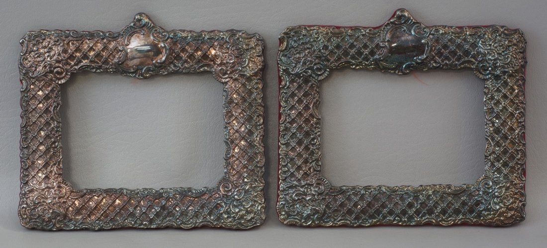 Pair of Sterling Silver Picture Frames, marked, no