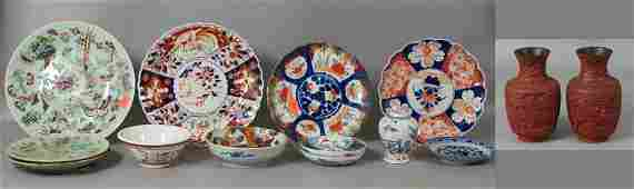(14) pcs misc Chinese/Japanese porcelain/tableware incl