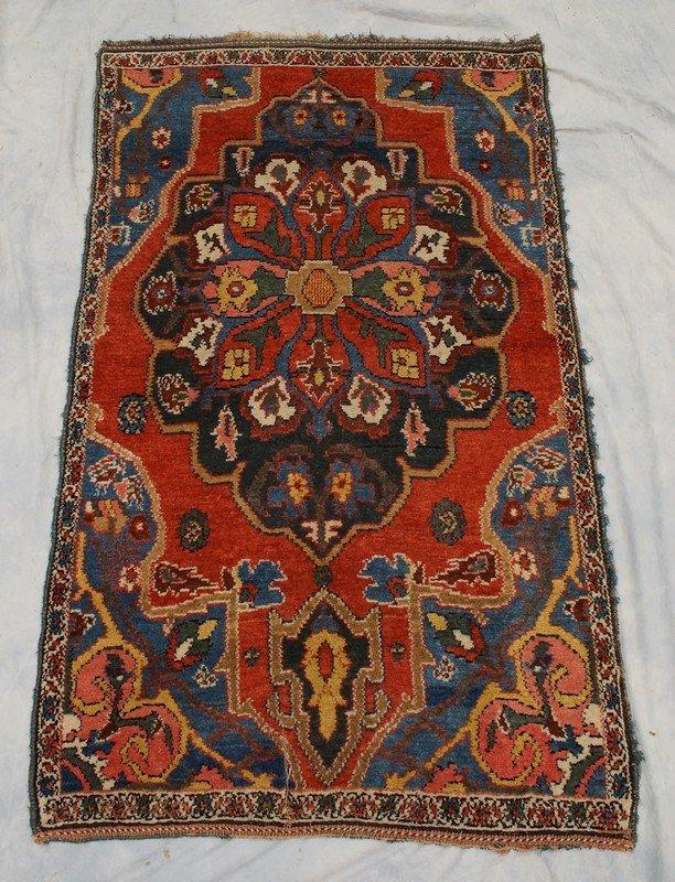"""3' x 5' Caucasian carpet, 2"""" repair at one end"""