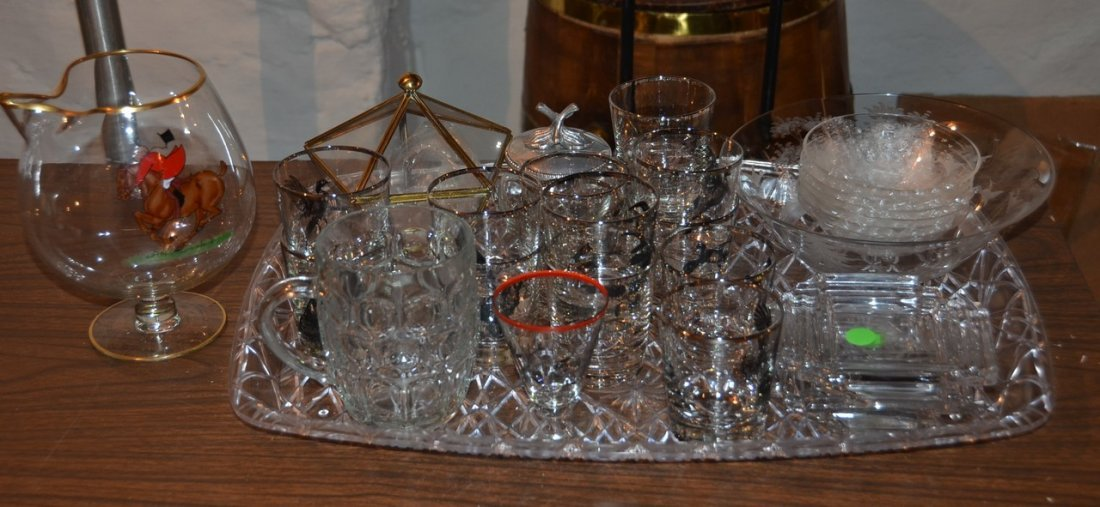 14 highball glasses decorated by Richard Bishop, 7