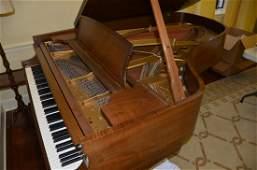 Walnut Steinway Model B grand piano serial 386876 c