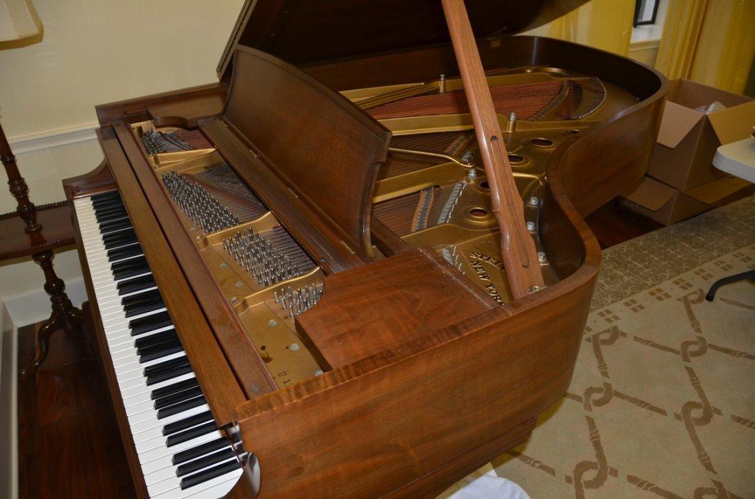 Walnut Steinway Model B grand piano, serial #386876, c
