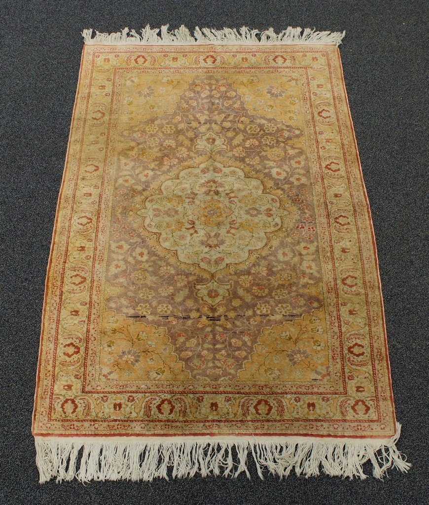 "4' x 5'10"" Turkish throw rug"