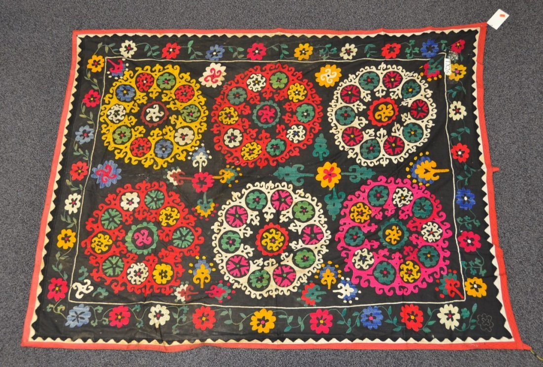 (6) Suzani, 19th/20th Century, Central Asia, largest