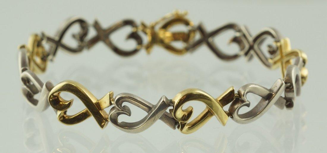 Tiffany & Co 18K YG & sterling Paloma Picasso Loving