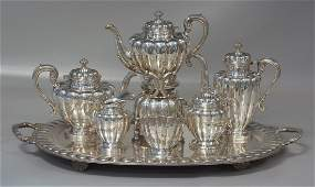 7 pc Mexican sterling silver teaset marked Imperial SA