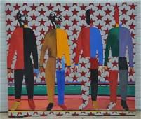 P Nesegeb, late 20th c, After Kazimir Malevich, o/c,