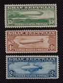 US Graf Zeppelin issue unused Scott #C13-C15 part gum