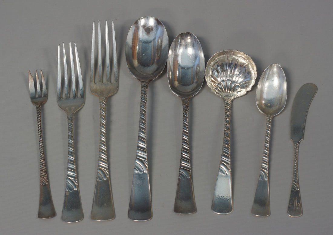 53 pcs Gorham Belle sterling silver flatware, 12 dinner