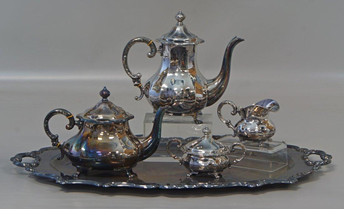 4 pc Eugen Ferner sterling silver tea set with a silver