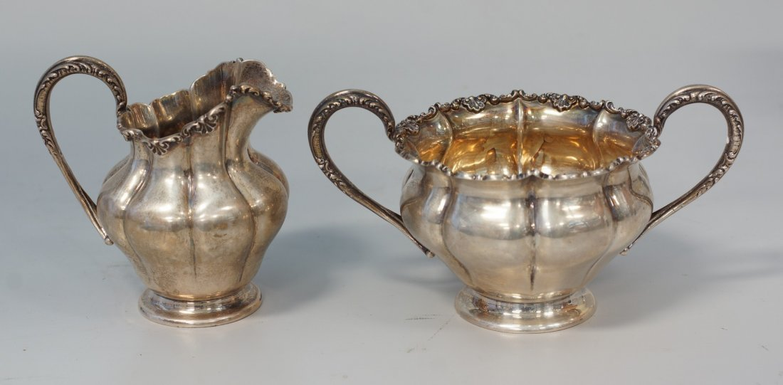 Reed and Barton Sterling silver creamer and sugar with