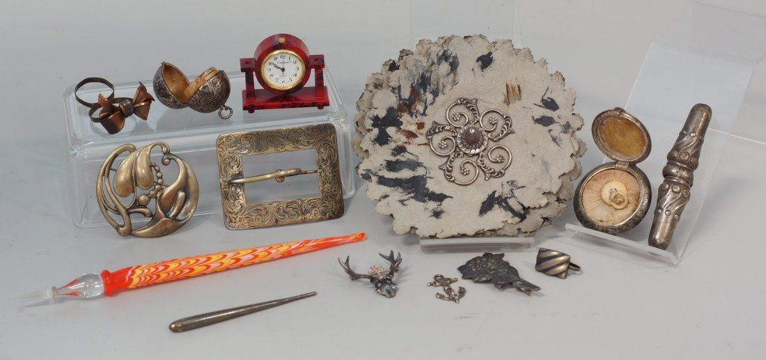 Interesting lot of silver and other items, to include;