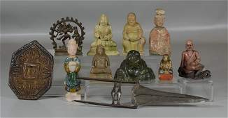 11 pcs of Asian items to include 2 early pottery