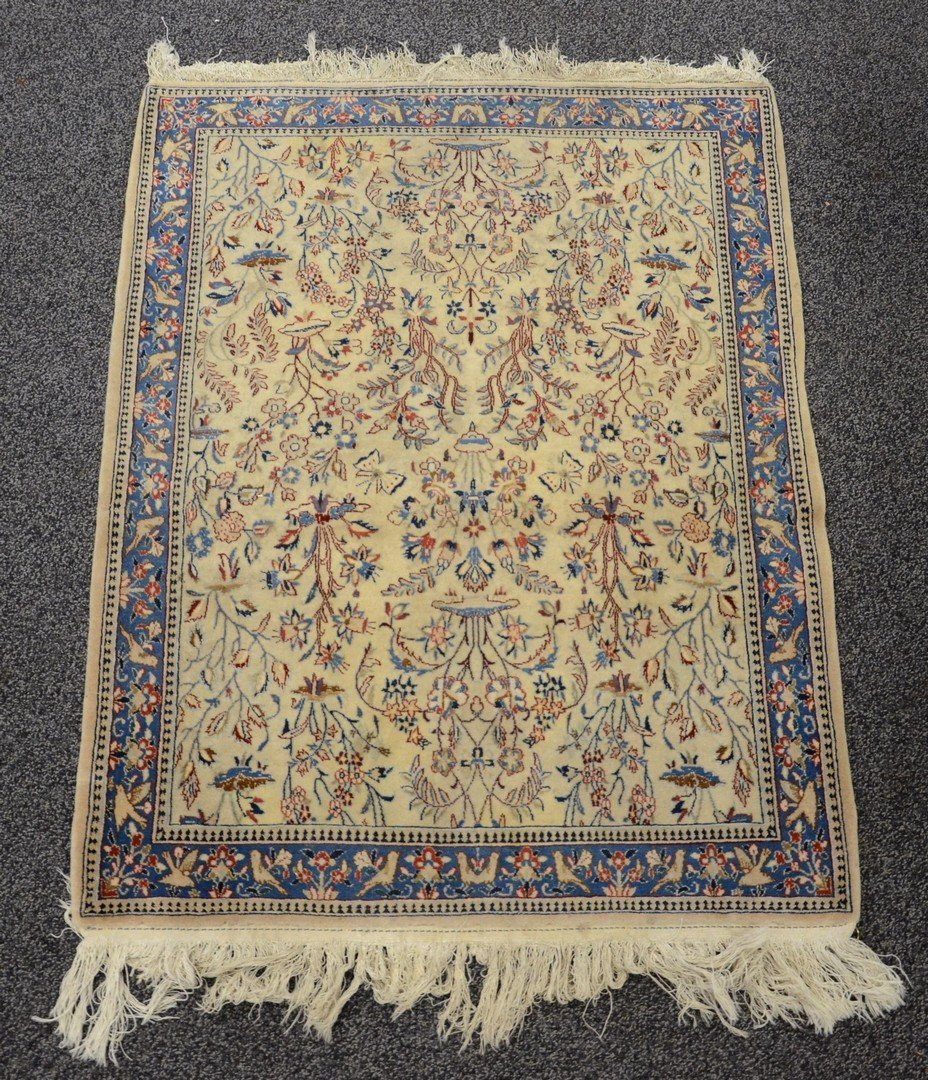 """2'8"""" x 3'5"""" Indo-Persian mat"""