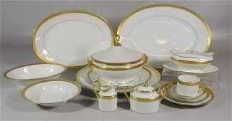 104 Pieces Richard Ginori Italian White with Gold Trim