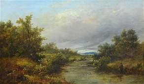 Joseph Thors British 18431898 oil on canvas River