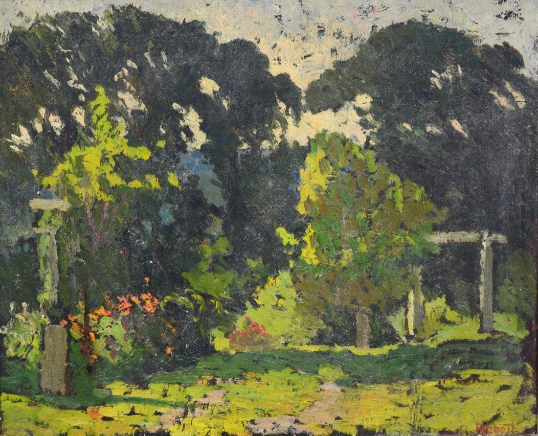 Yarnall Abbott (American, PA, 1870-1938), oil on board,