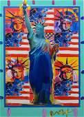 Peter Max AmericanGerman b 1937 acrylic