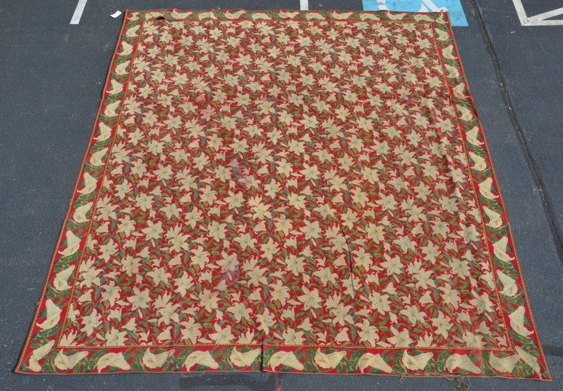 13' x 15' Arts & Crafts Pierced Carpet, border loose at
