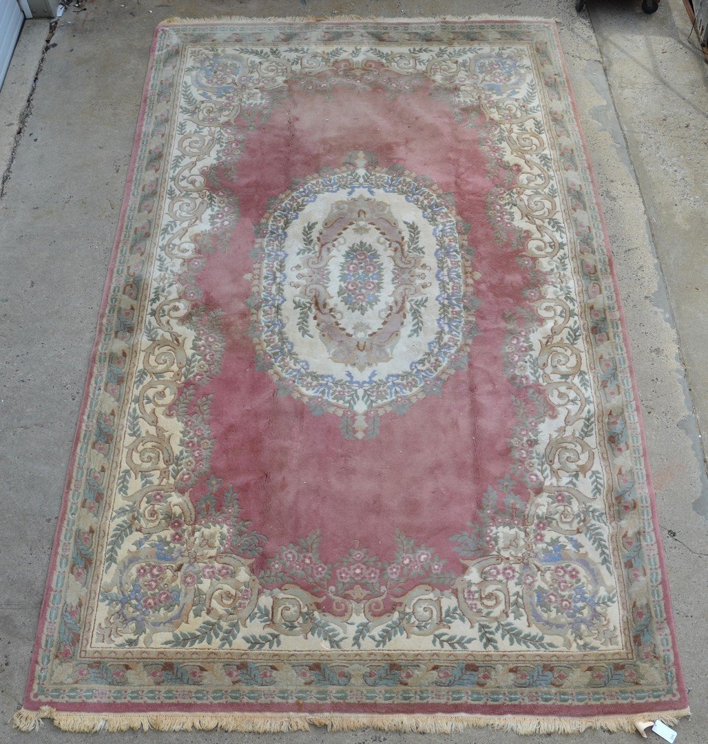 """French Savonnerie Style Carpet, 20th c, 15'6"""", 9'9"""""""