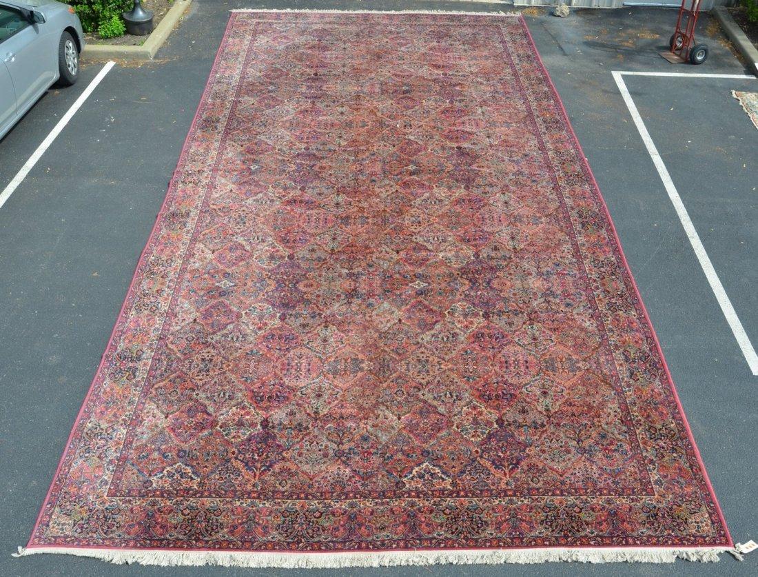 """29'6"""" x 14' Karastan Kirman Carpet"""