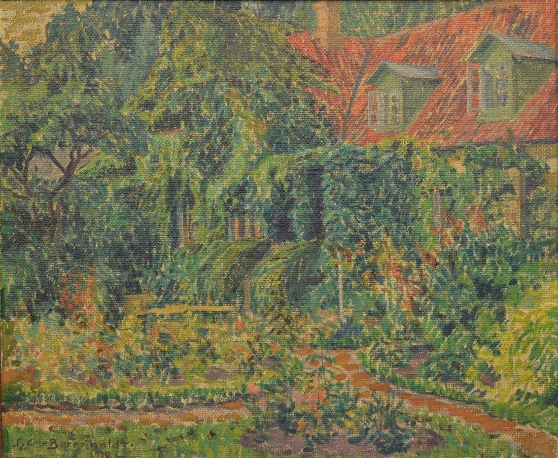 Hans Christian Barenholdt (Danish, 1890-1976), oil on
