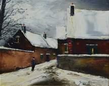 James Scoppettone American b 1937 oil on canvas